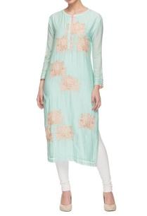 aqua-blue-powder-pink-floral-embroidered-kurta