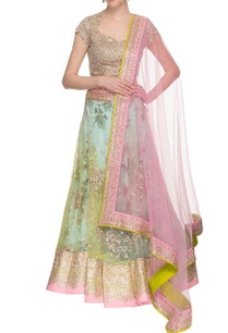 aqua-green-embellished-lehenga-set