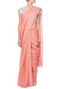 pale-rouge-grid-linen-sari
