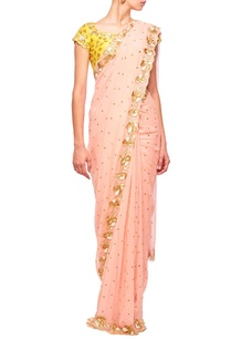 rose-pink-haldi-floral-embroidered-sari
