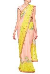 rose-pink-lime-green-floral-embroidered-sari