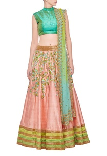 sea-green-rose-pink-floral-embroidered-lehenga-set