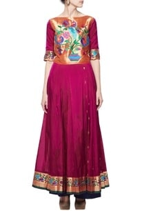 orchid-pink-gold%c2%a0pleated-kurta-with-blue-pants