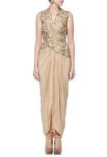 gold-floral-embroidered-kurta-with-churidar