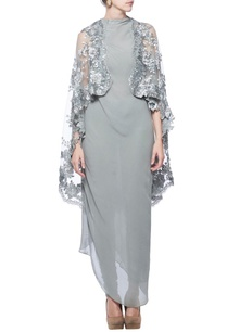 ash-grey-embellished-kurta-cape-with-churidar