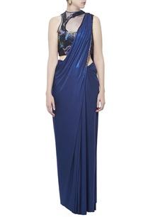 electric-blue-embellished-sari