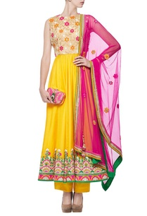 yellow-mirror-multi-colored-embroidered-anarkali-set