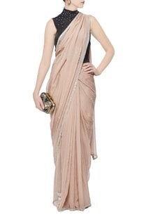 beige-black-sequin-embellished-sari