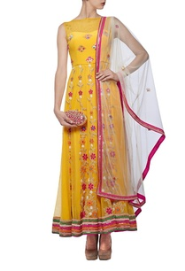 yellow-ivory-floral-mirror-embroidered-anarkali-set