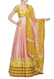 rose-pink-haldi-embroidered-lehenga-set