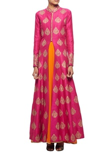 raani-pink-embroidered-jacket-with-orange-inner