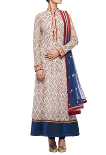 off-white-motif-printed-kurta-with-navy-blue-churidar-dupatta