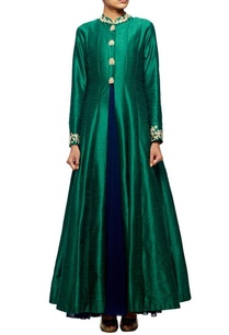 emerald-green-embroidered-jacket-with-navy-blue-inner