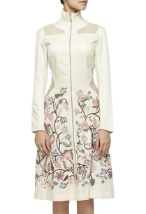 off-white-jacket-dress-with-multi-colored-hand-embroidery