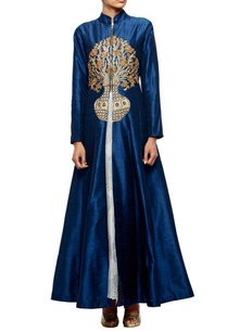 midnight-blue-embroidered-jacket-with-printed-organza-inner
