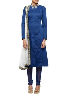 midnight-blue-a-line-kurta-with-net-churidar-dupatta