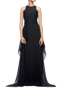 black-chiffon-silk-dress