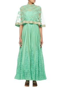 mint-green-anarkali-with-an-embroidered-cape
