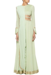 mint-green-jumpsuit-with-pleated-draped-dupatta
