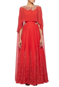 scarlett-red-anarkali-with-embroidered-chiffon-drape