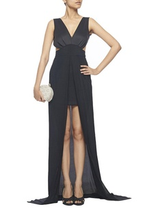 black-halter-gown