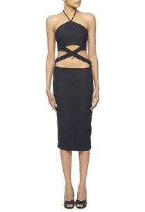 black-halter-gown