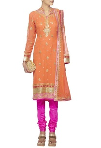 orange-gota-embroidered-kurta-set