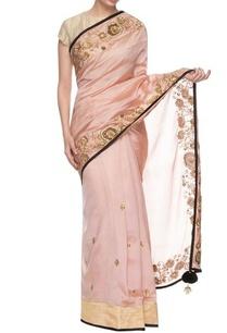 baby-pink-black-embroidered-sari