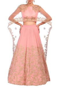 baby-pink-embroidered-cape-lehenga-set