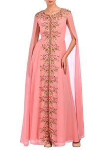 baby-pink-floral-embroidered-cape-dress