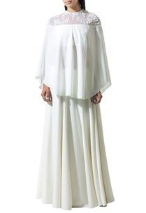 ivory-snowflake-beaded-cape-blouse