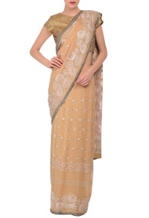 beige-sequin-embroidered-sari