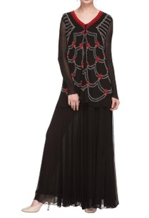 black-beadwork-embroidered-kurta-palazzo