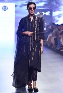 black-chikankari-embroidered-kalidar-kurta-and-dupatta-only