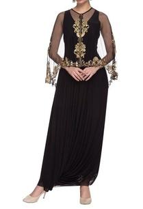 black-draped-dress-with-embellished-cape