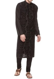 black-kurta-with-applique-work