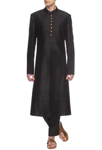 black-sherwani-set