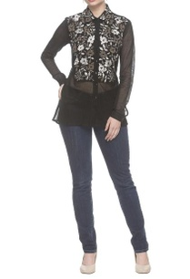 black-thread-embroidered-net-shirt