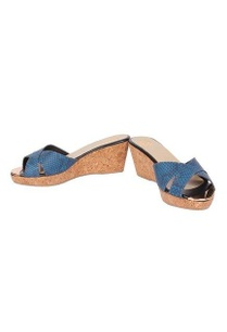 blue-snakeskin-leather-low-heel-wedges