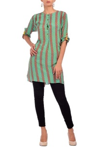 bright-green-red-geometric-printed-tunic