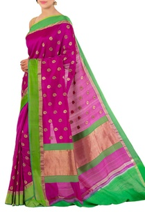 purple-and-leaf-green-banarasi-silk-sari