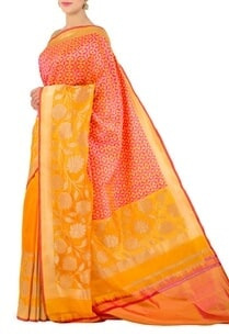 yellow-and-pink-floral-banarasi-silk-sari