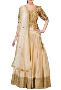 gold-cream-embellished-lehenga-set