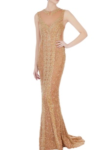 gold-stretchable-net-hand-embroidered-gown