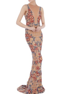 beige-stretchable-net-hand-embroidered-gown