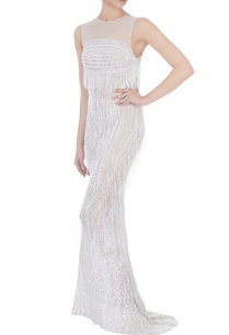 white-stretchable-net-hand-embroidered-gown