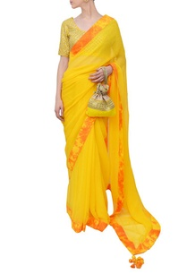 haldi-yellow-embroidered-marble-sari
