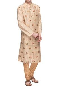 cream-threadwork-embroidered-kurta