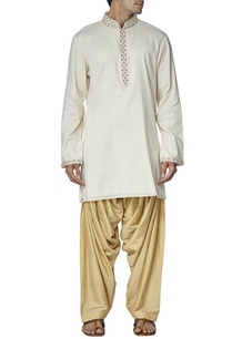 ivory-beige-embroidered-kurta-set