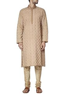 beige-tile-embroidered-kurta-set